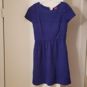ELLE Blue Capped Sleeve Dress